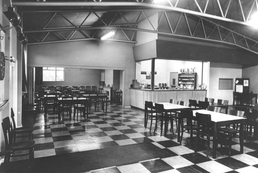 Napton Victory Club showing interior of the club on the day that it was opened by Lord Willoughby de Broke.  1956 |  IMAGE LOCATION: (Warwickshire County Record Office)
