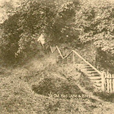 Kingsbury.  Ye Old Red Lane and steps