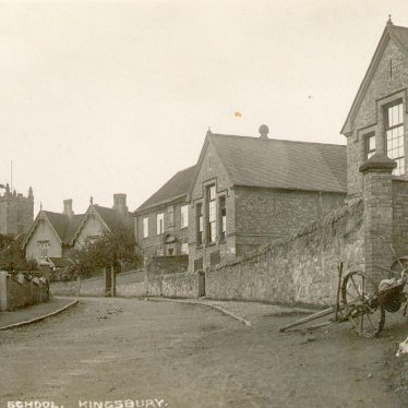 Kingsbury.  Vicarage and school