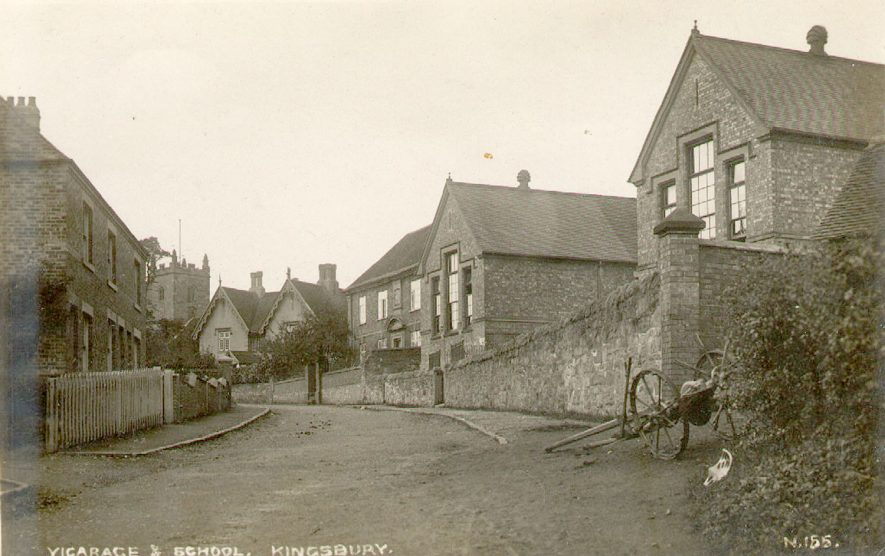 Kingsbury vicarage and school.  1900s |  IMAGE LOCATION: (Warwickshire County Record Office)