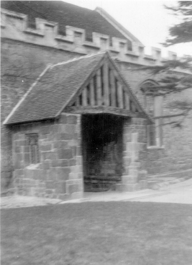 Porch of church of SS Peter & Paul, Kingsbury.  1930 |  IMAGE LOCATION: (Warwickshire County Record Office)