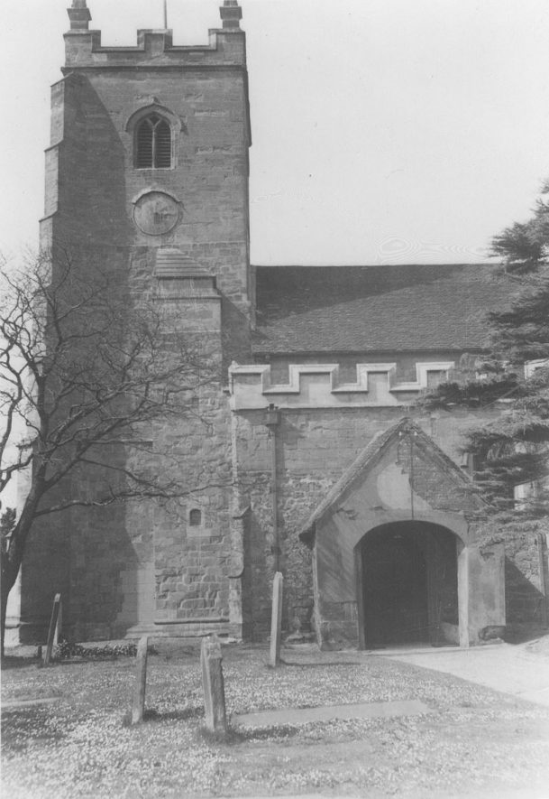 Church of SS Peter & Paul, Kingsbury.  Exterior view.  1935 |  IMAGE LOCATION: (Warwickshire County Record Office)