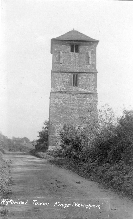 Old church tower, King's Newnham.  Has been damaged by lightning.  1930s |  IMAGE LOCATION: (Warwickshire County Record Office)