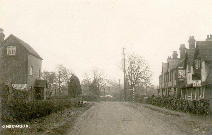 Village Street looking towards a road junction, Kingswood.  1920s |  IMAGE LOCATION: (Warwickshire County Record Office)