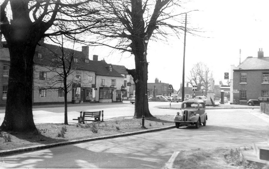 Street scene (The Square?) in Dunchurch.  1950s