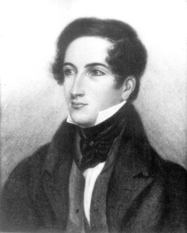 Photograph of a portrait of the Revd Richard Seymour, Vicar of Kinwarton & Great Alne, 1834 - 1876, Kinwarton. |  IMAGE LOCATION: (Warwickshire County Record Office) PEOPLE IN PHOTO: Seymour, Revd Richard, Seymour as a surname