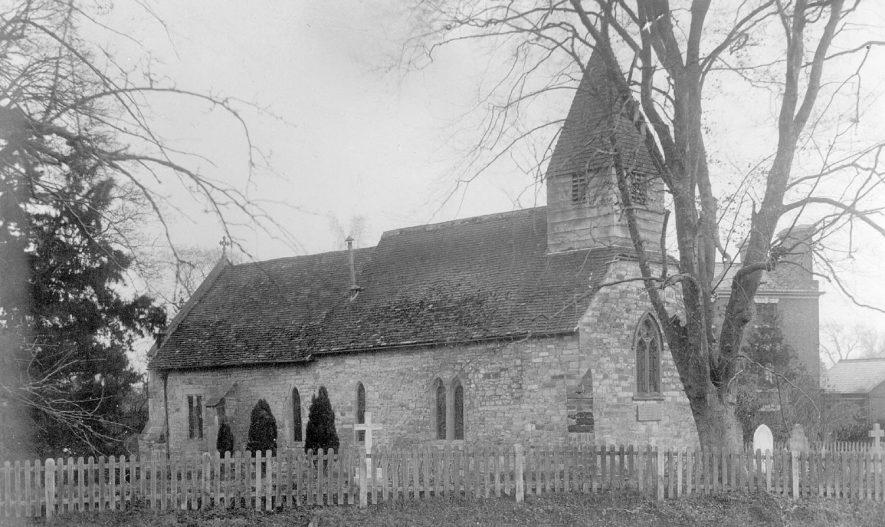 St Mary's Church, Kinwarton.  1910s |  IMAGE LOCATION: (Warwickshire County Record Office)