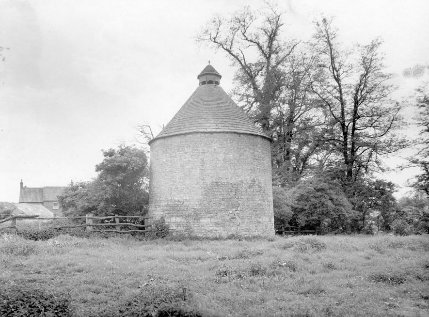 The Dovecote, Kinwarton. A rear view.  1960s |  IMAGE LOCATION: (Warwickshire County Record Office)