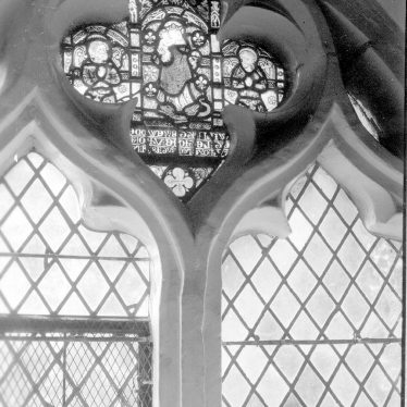 Kinwarton.  Stained glass at the church