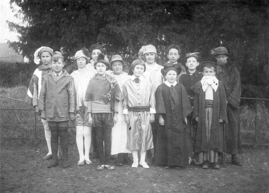 A group of children dressed for a play or pageant, Ladbroke.  1920s