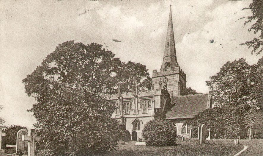 St Mary's church, Lapworth.  1920s |  IMAGE LOCATION: (Warwickshire County Record Office)