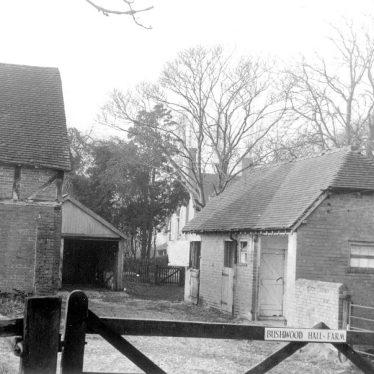 Lapworth.  Outbuildings at Bushwood Hall Farm