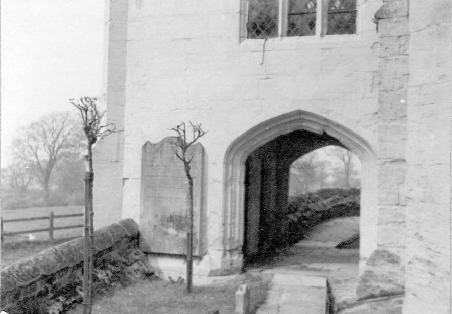 Lapworth Church.  Base of the tower.  1920s |  IMAGE LOCATION: (Warwickshire County Record Office)
