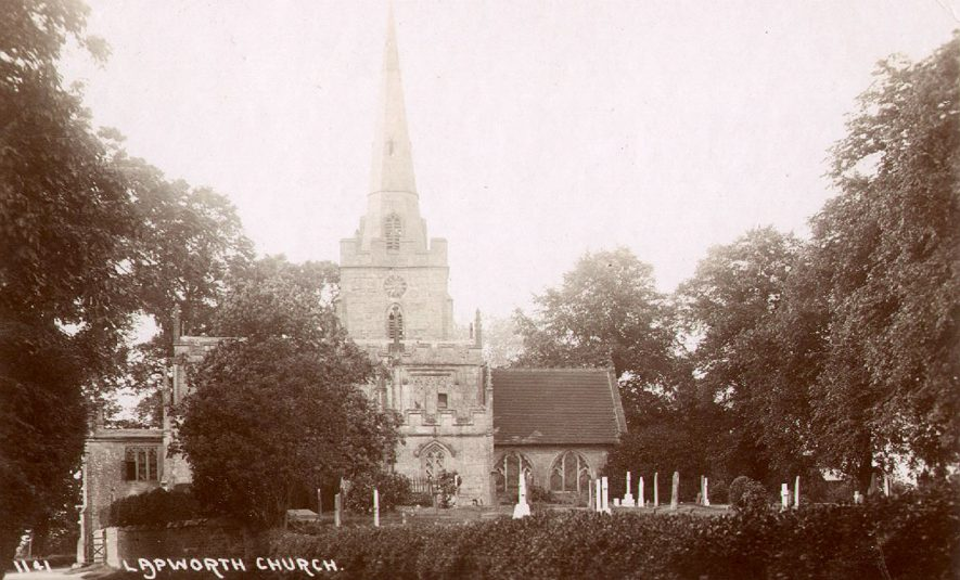 Lapworth Church.  1920s |  IMAGE LOCATION: (Warwickshire County Record Office)