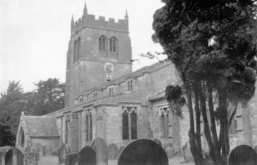 All Saints Church, Leamington Hastings.  1920s |  IMAGE LOCATION: (Warwickshire County Record Office)
