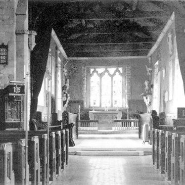 Leamington Hastings.  Church interior
