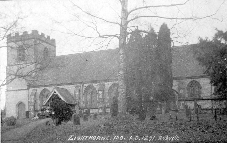 Lighthorne Parish Church, north side.  1910 |  IMAGE LOCATION: (Warwickshire County Record Office)