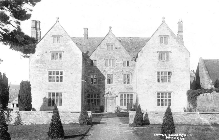 The manor house, Little Compton.  1930s    IMAGE LOCATION: (Warwickshire County Record Office)