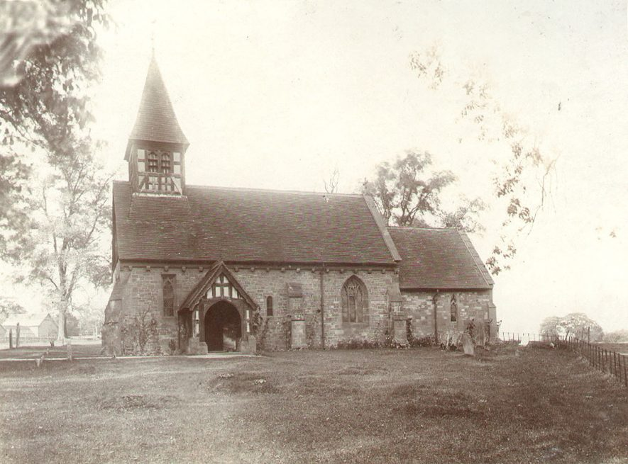 St Bartholomew's church, Little Packington.  1900s |  IMAGE LOCATION: (Warwickshire County Record Office)