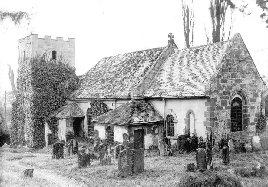 St Nicholas church and churchyard, Loxley.  1925 |  IMAGE LOCATION: (Warwickshire County Record Office)