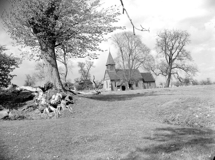 St Bartholomew's church, Little Packington.  May 9th 1956 |  IMAGE LOCATION: (Warwickshire County Record Office)