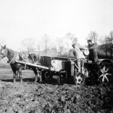 Dunchurch. Buccleuch Estate, tractor