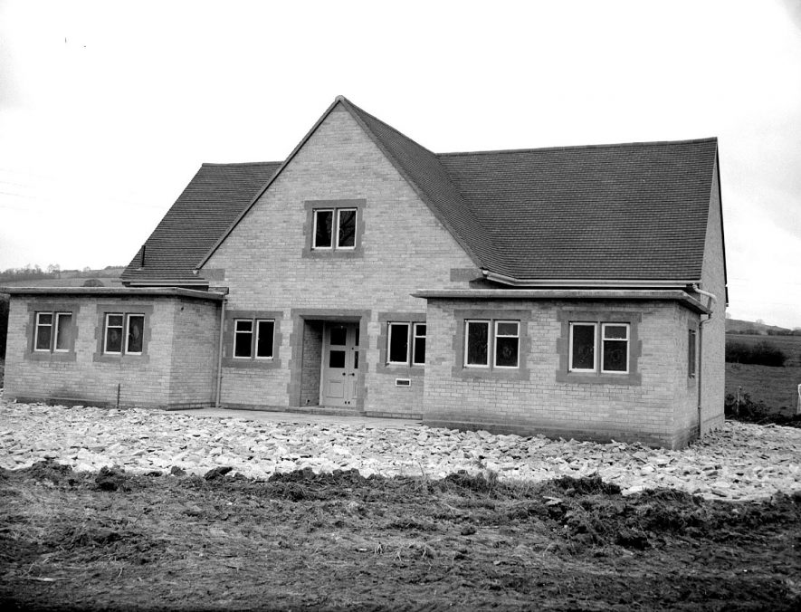 The village hall, Long Compton.  December 4th 1956 |  IMAGE LOCATION: (Warwickshire County Record Office)