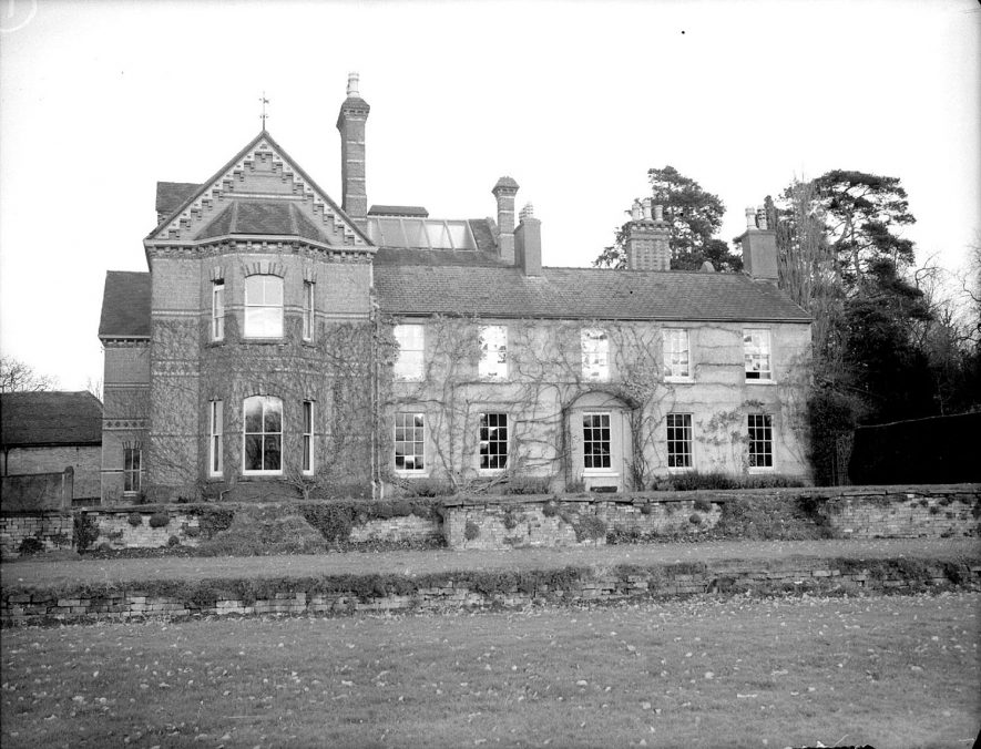 Rear of Loxley Hall, Loxley.  November 21st 1951 |  IMAGE LOCATION: (Warwickshire County Record Office)