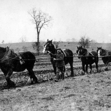 Dunchurch.  Buccleuch Estate, ploughing