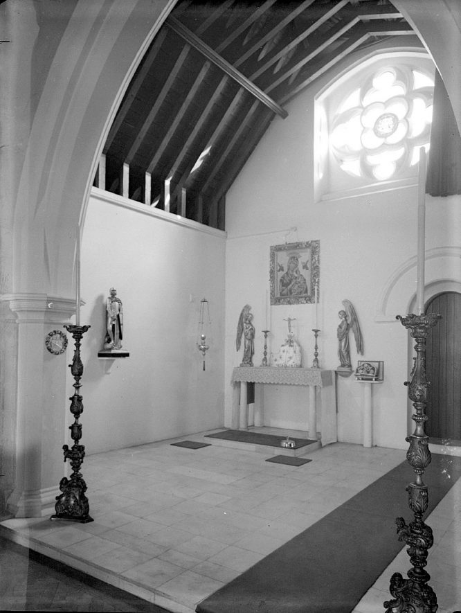 The Lady Chapel, Church of St Mary Magdalene, Lillington.  1959 |  IMAGE LOCATION: (Warwickshire County Record Office)