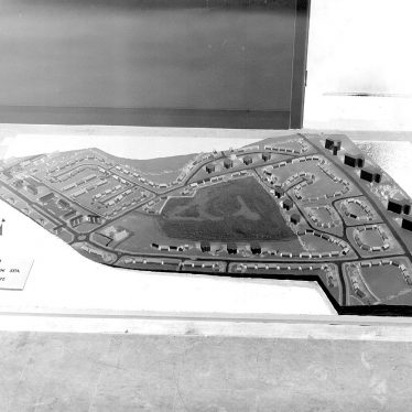 Lillington.  Model of proposed housing estate