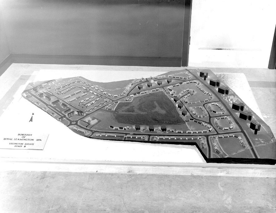 Model of proposed housing estate at Lillington.  1956 |  IMAGE LOCATION: (Warwickshire County Record Office)