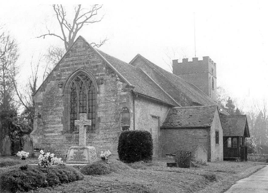 The church of the Holy Cross, Moreton Morrell.  1958  |  IMAGE LOCATION: (Warwickshire County Record Office)