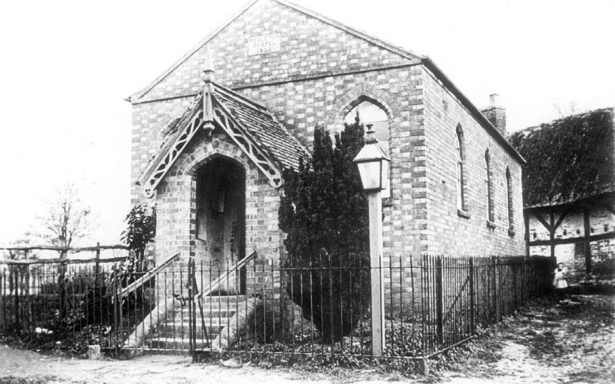 Moreton Morrell Wesleyan Chapel.  1906 |  IMAGE LOCATION: (Warwickshire County Record Office)