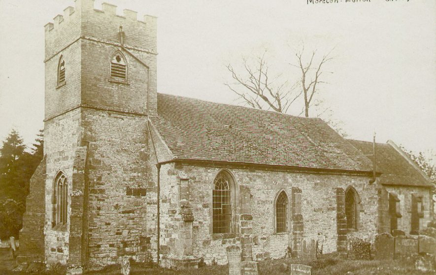 Moreton Morrell parish church from the south east.  1900s |  IMAGE LOCATION: (Warwickshire County Record Office)