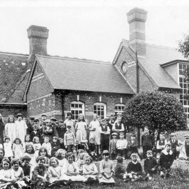 Middleton.  Village school and children