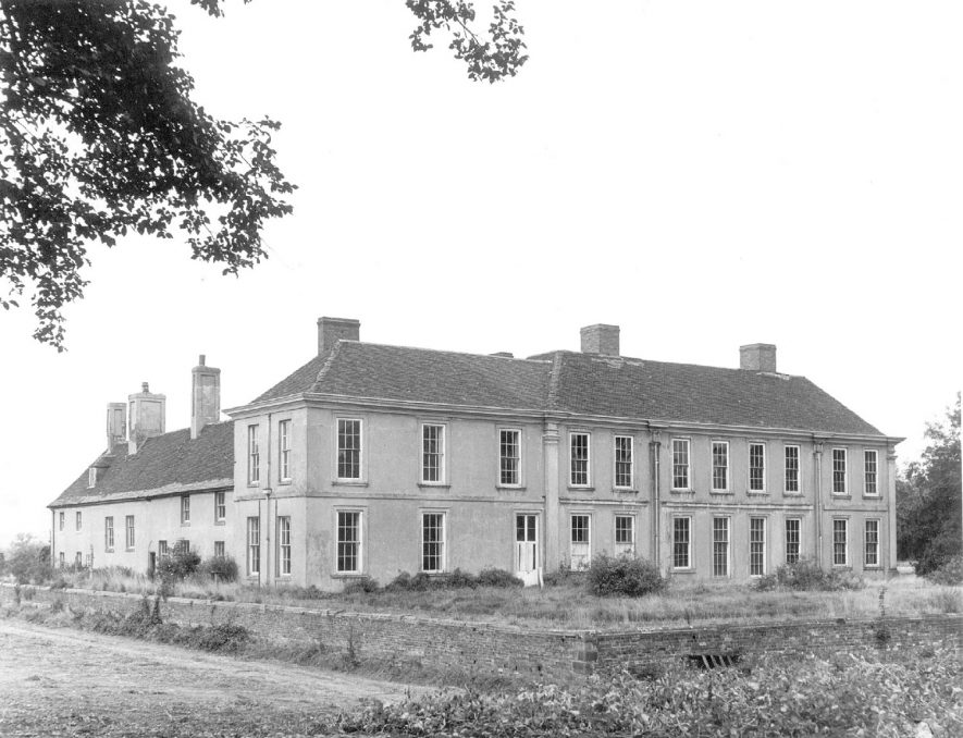 Middleton Hall, seen from the south west, Middleton.  1969 |  IMAGE LOCATION: (Warwickshire County Record Office)