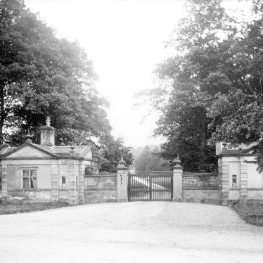 Merevale.  Lodges and gates to Merevale Hall
