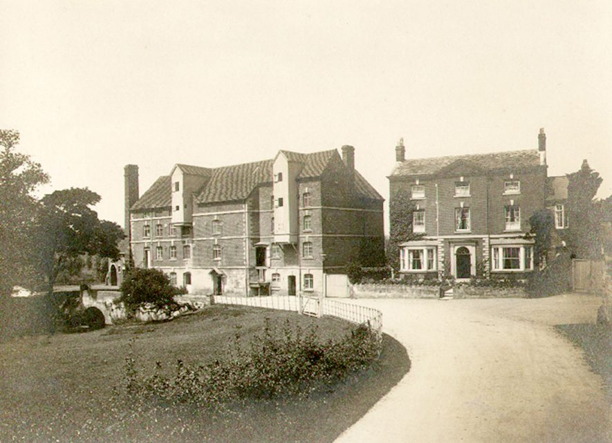 Front view of Rock mills and detached house, Milverton.  1910s |  IMAGE LOCATION: (Warwickshire County Record Office)