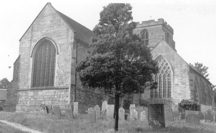 St Peter's church, Mancetter, seen from the north east.  August 6th 1940 |  IMAGE LOCATION: (Warwickshire County Record Office)