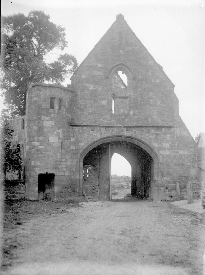 The remains of a gateway at Maxstoke Priory.  1926 |  IMAGE LOCATION: (Warwickshire County Record Office)