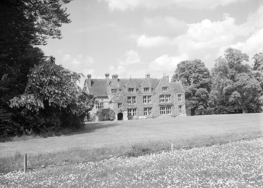 Exterior of Stoney Thorpe Hall. Some original features of the 17th century are visible but most has been restored      IMAGE LOCATION: (Warwickshire County Record Office)