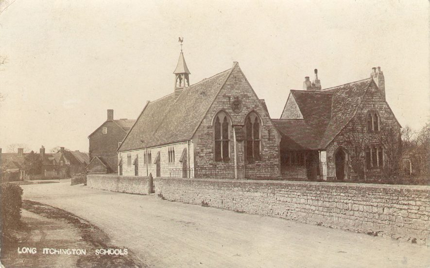 The schools, Long Itchington.  1900s |  IMAGE LOCATION: (Warwickshire County Record Office)