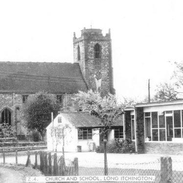 Long Itchington.  School and church