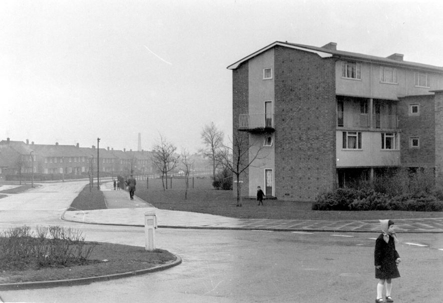 Valley Road, Lillington,looking in a westerly direction.  1967 |  IMAGE LOCATION: (Warwickshire County Record Office)