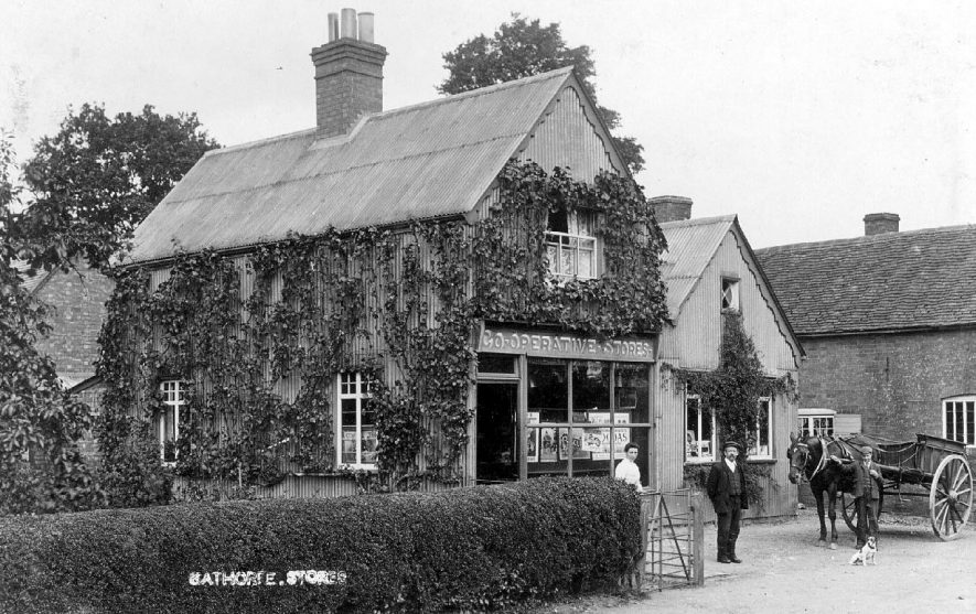 Co-operative Stores at Eathorpe.  1900s |  IMAGE LOCATION: (Warwickshire County Record Office)