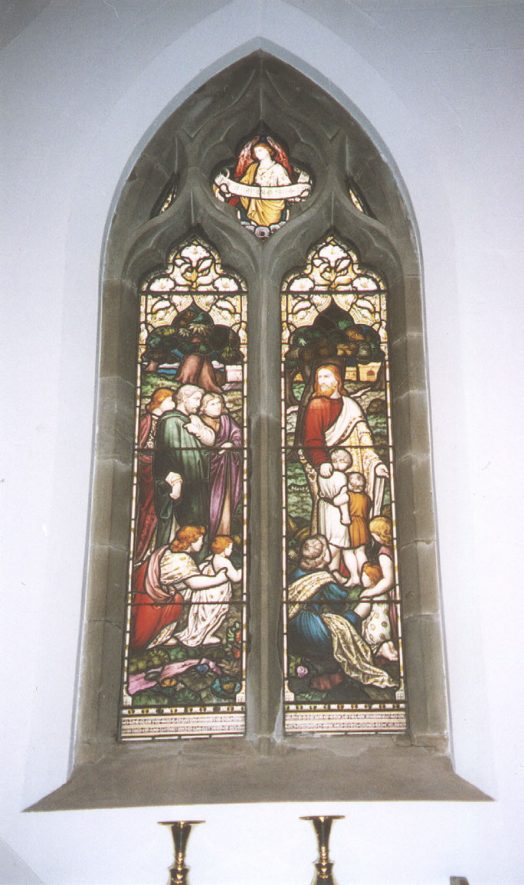 Stained glass window in St Mary Magdalene church, Lillington, in memory of the Milne family.  1994 |  IMAGE LOCATION: (Warwickshire County Record Office)
