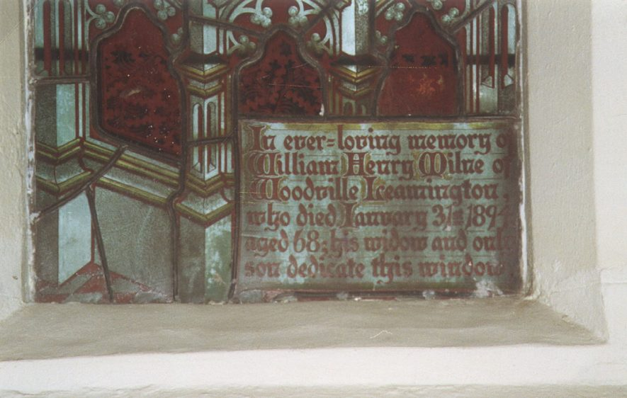 Detail from a stained glass window in St Mary Magdalene church, Lillington, in memory of the Milne family.  1994 |  IMAGE LOCATION: (Warwickshire County Record Office)