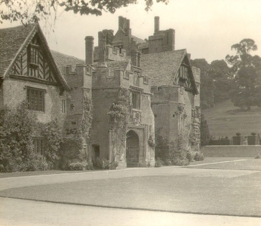 Compton Wynyates house and grounds from the north east.  1930s |  IMAGE LOCATION: (Warwickshire County Record Office)