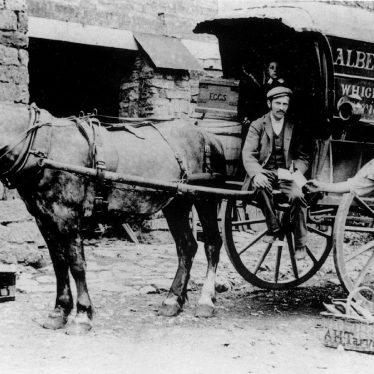 Cherington.  Horse and carrier